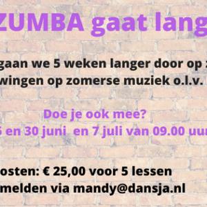 Nieuwe Cursus Zumba zaterdagochtend
