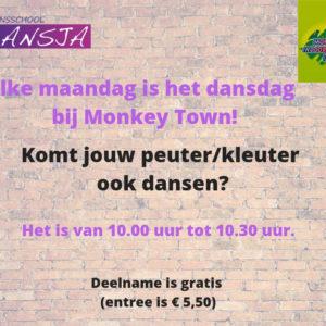 Workshop peuterdansen bij Monkey Town