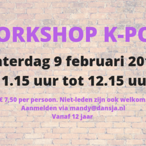 Workshop K-pop voor 12+