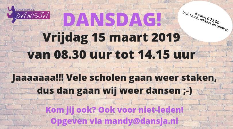 Dansdag vrijdag 15 maart 2019