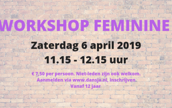 Workshop Feminine 12+