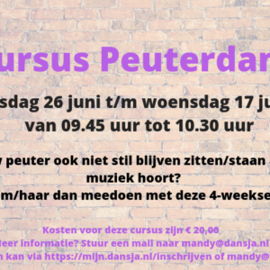 Cursus Peuterdans 4 weken