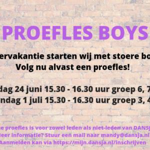 Proefles BOYS