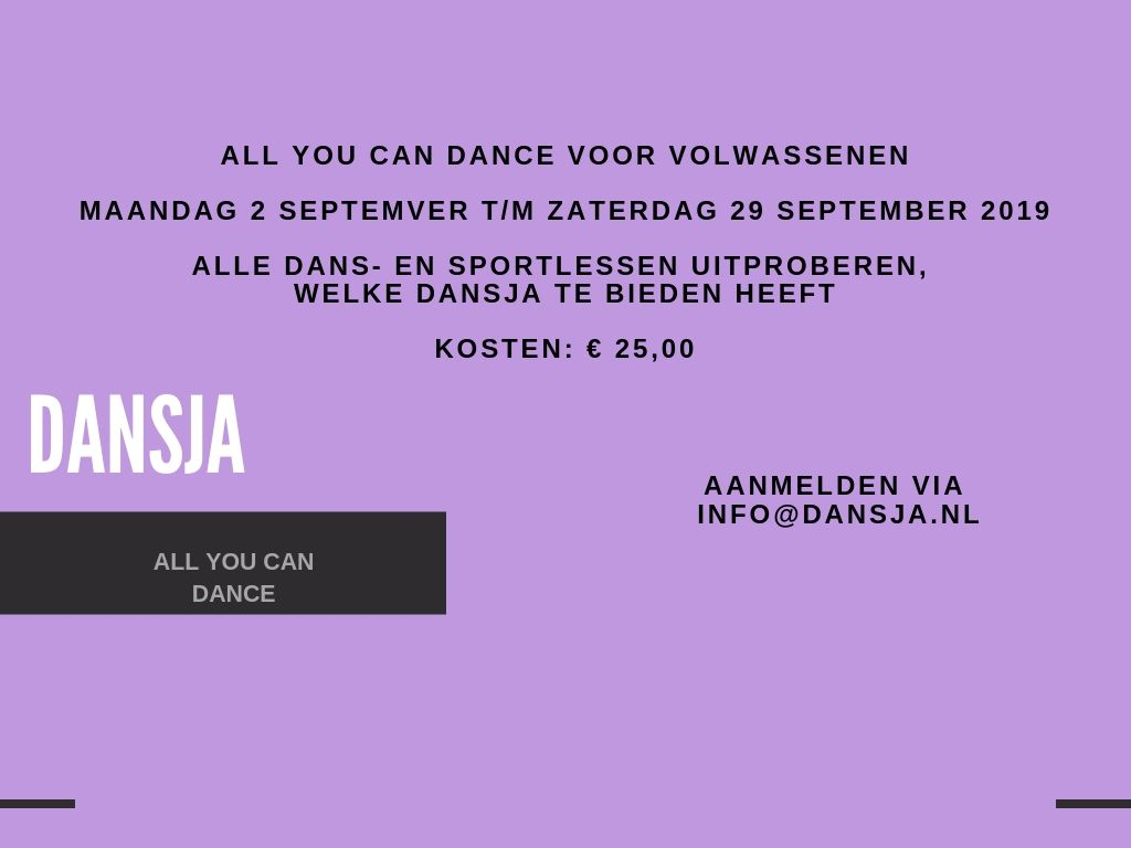 All you can dance