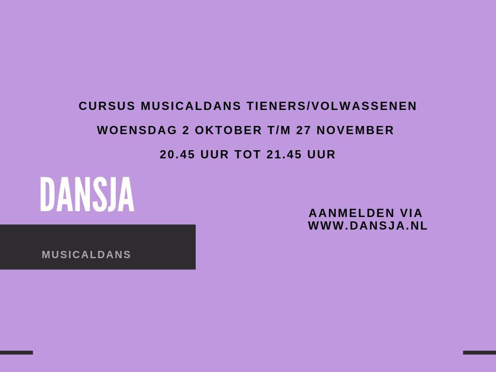 Cursus Musicaldans tieners/volwassenen