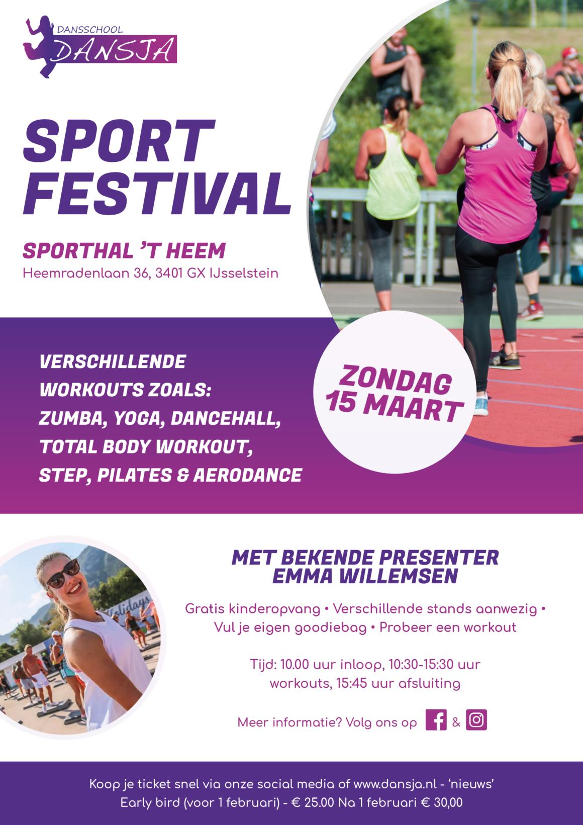 SPORT FESTIVAL – Zondag 15 maart 2020