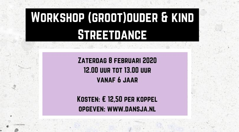 Workshop (groot)ouder en kind Streetdance