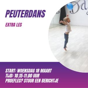 Extra les Peuterdans op woensdagochtend
