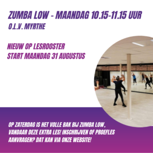 Extra Zumba Low – Maandag 10.15-11.15 uur *NIEUW*