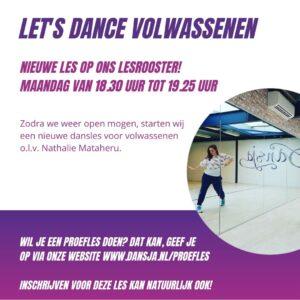 Nieuwe les Let's Dance volw.