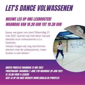 Let's Dance voor volwassenen gaat van start!