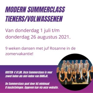 Modern Summerclass tieners en volwassenen